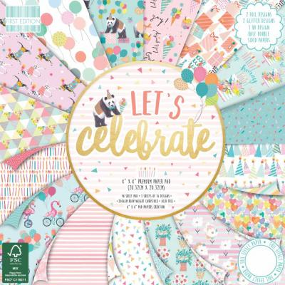 First Edition Let's Celebrate 8x8 Inch Paper Pad